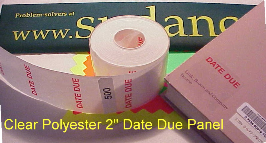DATE PANELS (roll of 500) clear & red print