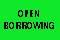 OPEN BORROWING label roll(s) .5