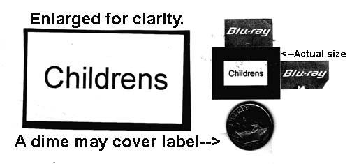 Childrens (sic) smallest  W & Bk .39