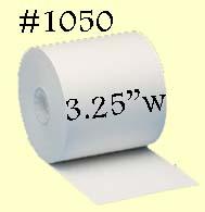 1050 Bond Receipt Paper Rolls 3.25