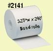 2141 Bond Paper Rolls 3.25