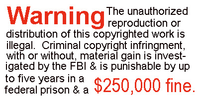 FBI WARNING label roll(s) 2010 for violation of copyright laws 750/roll.