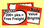 Price Cards - VB Coated - 200+ pack order with Free Freight